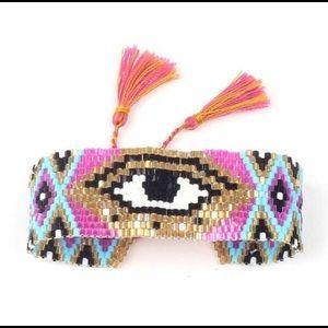 Jewelry - Handmade Evil Eye beaded bracelet